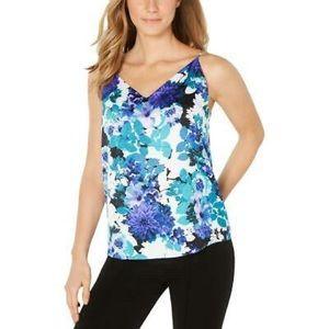 Calvin Klein Anna Floral Print V Neck Camisole Top